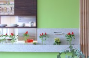 Interesting Kitchen Window Herb Garden : Modern Kitchen With Awesome Indoor Herb Garden Below Window Sill