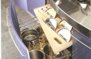 Efficient Saucepan And Pot Lid Storage : Modern Kitchen With Pots Storage With Lids Storage Right Above Under Stove Top Storage