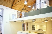 Beautiful Modern Mezzanines Design To Increase Square Footage Inspiration Ideas Part-1 : Modern Mezzanine Design Inspiring Modern Residence Barn Living Space Mezzanine Placed Above The Kitchen And Dining Space On The First Level