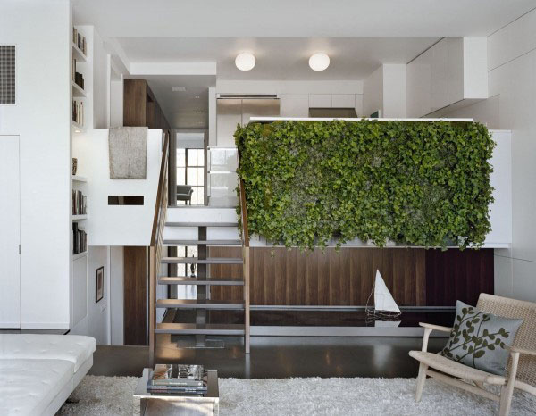 Beautiful Modern Mezzanines Design To Increase Square Footage Inspiration Ideas Part-1: Modern Mezzanine Design Natural Color Palette Part Of A Split Level Architecture Mezzanine Design With Wood And Greenery Idea