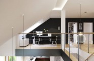 Beautiful Modern Mezzanines Design To Increase Square Footage Inspiration Ideas Part-1 : Modern Mezzanine Design Simple And Elegant Mezzanine Home Office Design Under The Sloping Roof