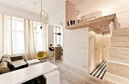Beautiful Modern Mezzanines Design To Increase Square Footage Inspiration Ideas Part-1 : Modern Mezzanine Small Apartment Semi Mezzanine Under Ceiling And Built It Above The Bathroom And Hallway