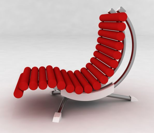 Modern Rocking Chair Design Ideas: Modern Outdoor Lounge Rocking Chair From Peter Vardai
