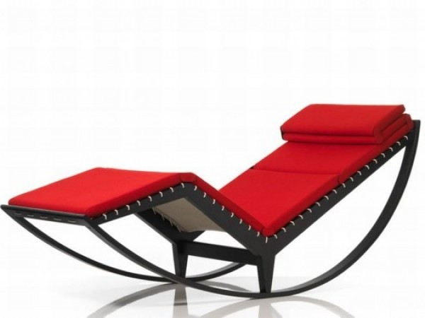 Modern Rocking Chair Design Ideas: Modern Rocking Lounge Chair Designed By Franco Albini 1