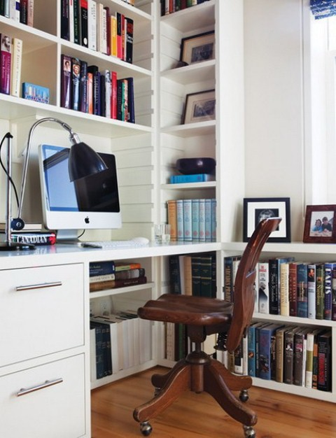 Charming And Thoughtful Home Office Storage Ideas: Modern Thoughtful Home Office Storage Solution Ideas With Trendy Desks Bookshelves Office Chairs File Cabinets And Desk Accessories For Your Library ~ stevenwardhair.com Bookshelves Inspiration