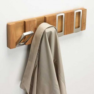 Awesome Retractable Coat Hook Design : Modern Wooden And Metal Hook Retractable Coat Hooks
