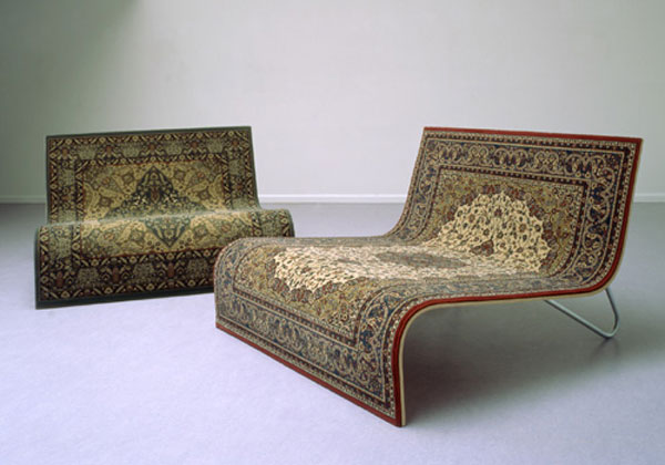 All Kind Of Most Creative And Unique Sofa Design: Most Creative East Meet West Or Carpet Sofa Design Its A Pretty Simple A Wood And Inox Support On Top Of A Persian Rug Ideas