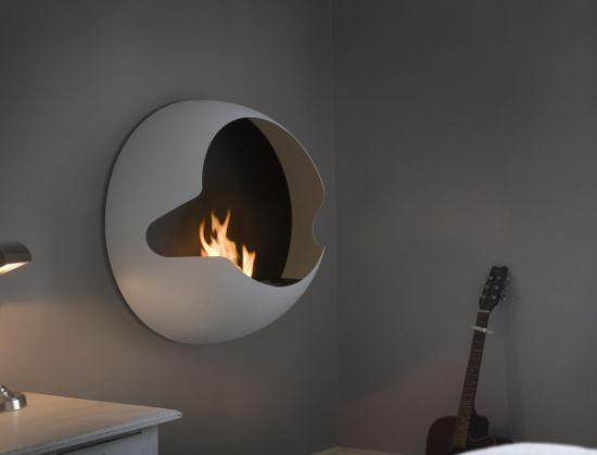 The Most Modern Contemporary Fireplace Design: Most Modern Contemporary Fireplace Design Awesome White Color Wall Mounted Fireplace