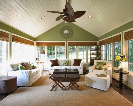 Perfect Sunroom Design Ideas To Relax While Enjoying A View: Natural Energies With Perfect Furniture Room Layout And Accent Pieces And Bringing In Beautiful Natural Light With Plantation Style Sunroom