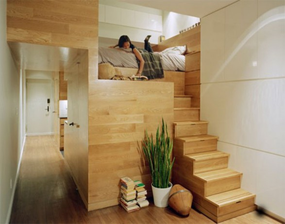 Unique Outstanding Studio Apartment Design By Adding Immoderate Furniture: Natural Wooden Furniture Studio Apartement Decorating Ideas With Astonishing Laminated Wooden Floor Design And Minimalist Rooms Design ~ stevenwardhair.com Apartments Inspiration