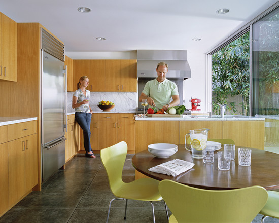 Eat In Kitchen Table Designs : Newport Beach Residence Modern Kitchen With The Cabinet Eat In Kitchen That Is Huge And Kitchen Island Ends In Front Of Fridge White Countertop And Stainless Steel