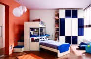 Astonishing Blue Decoration Color For Boys Bedroom Design Ideas : Nice Astonishing Decoration Blue Color For Boys Bedroom Design Accent Fabrics And Wall Mur Gorgeous And Modern Spacious Bed With Beautiful Blue Accents