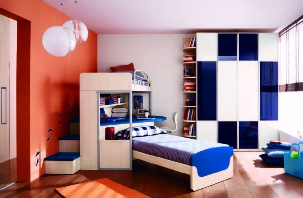Astonishing Blue Decoration Color For Boys Bedroom Design Ideas: Nice Astonishing Decoration Blue Color For Boys Bedroom Design Accent Fabrics And Wall Mur Gorgeous And Modern Spacious Bed With Beautiful Blue Accents ~ stevenwardhair.com Bed Ideas Inspiration