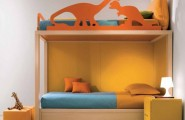 Calm and Ergonomic Bedroom Ideas for Kids : Nice Bright Simple Ergonomic Bedroom Ideas For Two Children With Two Stair Bedroom And Side Table With Small Lamp