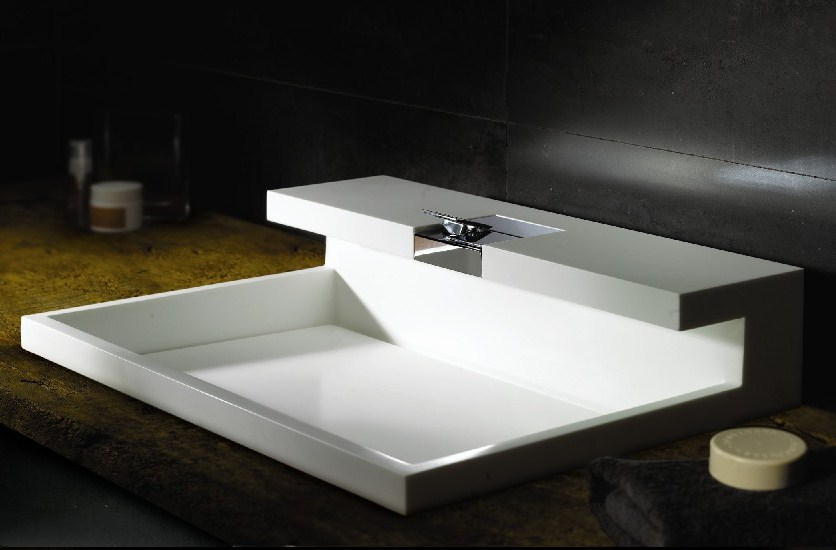 Bathrooms Vessel Sinks Design: Nice Deluxe Bathroom Vessel Sink Design Idea