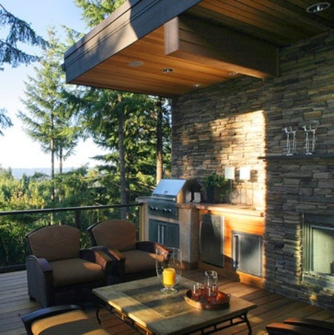 Inspiring Display Of Completed Outdoor Kitchens: Nice Display Of Completed Outdoor Kitchens Design Ideas With A Simple Set Up Of An Outdoor Kitchen Paired With A Breathtaking Living Space And Wall Decor ~ stevenwardhair.com Architecture Inspiration