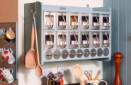 Suitable Kitchen Storage Design For Your Beautiful Kitchen : Norwegian Accent Grey CAbinets With Outstanding Laminated Wooden Pantry And White Wall Motives Mugs