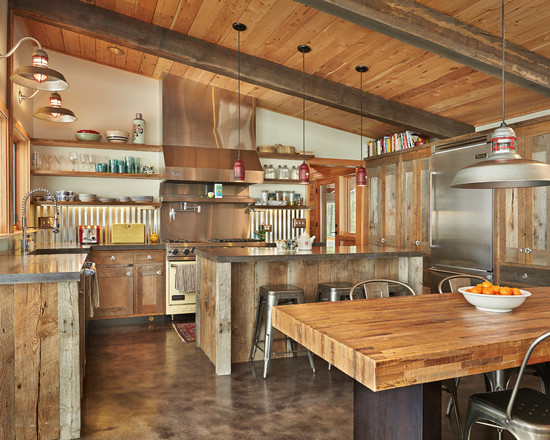 ... Surprising Salvaged Cabinet : Old Reclaimed Wood Of The At Salvage  Cabinets Corrugated Back Splash Barn ...