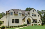 Color Options of Brick For Homes : Originally Brick House Traditional Exterior Facade Green Front Yard
