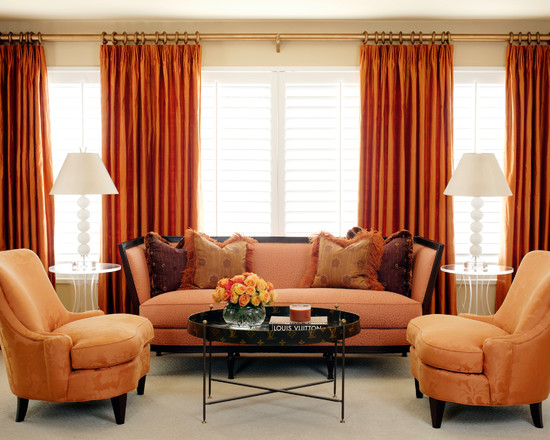 Apply Blinds And Curtains Together: Outstanding Contemporary Bedroom Blinds And Curtains Together Curtain In White With A Bit Of Sheen Like A Dupioni Silk With Blackout On Stainless Orange Chairs
