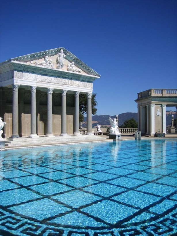 Remarkable Appealing Exterior and Interior Decorations For Beautiful Swimming Pool: Outstanding Mansions Building With Pools Replica Greek Roman Style Design Ideas With Remarkable Pools Design And Great Stone Floor Ideas ~ stevenwardhair.com Exterior Design Inspiration