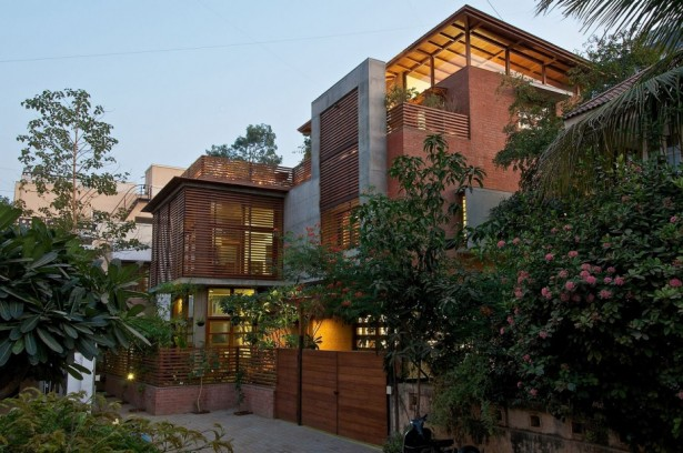 Environmental Friendly House Design To Attract Urban People: Outstanding Sustainability Wood Material Friendly House Design And Structure With Nice Wooden Green House Completed With Cool Yellow Lighting ~ stevenwardhair.com Design & Decorating Inspiration