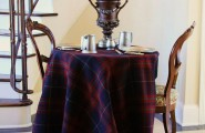 Picture Of Dining Room Table Linen Hangers : Outstanding Traditional Hall Table Linen Hangers Plaid Blanket As A Tablecloth Typically Woven Wool Tartan Consists Of Patterns Of Different Colored Stripes