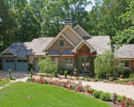 Awesome Ranch Home with Curb Appeal: Pamela Foster Traditional Exterior Facade With Green Grass At Front And Many Flowers Plus Small Path ~ stevenwardhair.com Exterior Design Inspiration