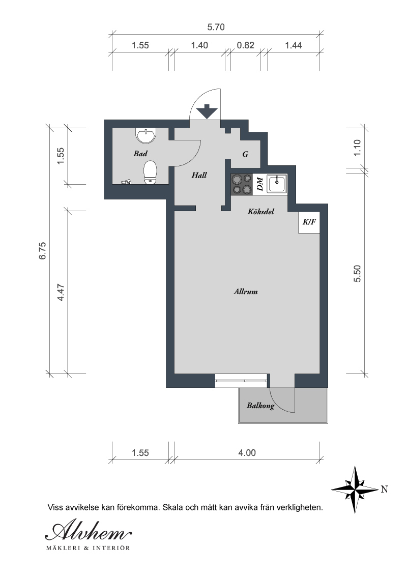 26 sqm Small Studio Apartment Interior Designs: Plans Of 26 Sqm Small Apartment Blueprint