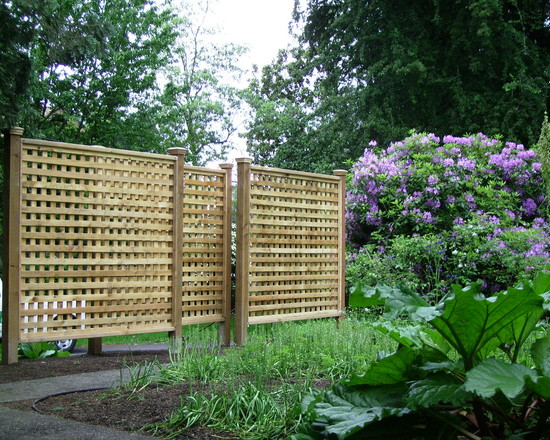 Wonderful Lattice Screen Designs: Portland Patio Traditional Exterior With Wood Lattice Fence Gossamer Fabric
