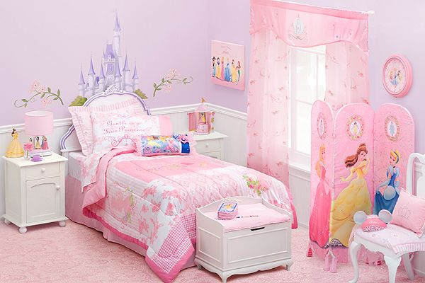 Pretty Pinky Different Styles Collection Of Cool Design Ideas For Little Girls Bedrooms : Pretty Pinky Different Cool Design Ideas For Little Girls Bedrooms Ideas Pink Bed Nice White Dresser Color Combination Sheed Nice Curtain