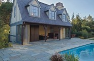 Inspiring Outside Flooring Ideas : Private Residence Traditional Patio Grout Free Floor Seamless Outdoor Indoor Flooring Idea Garage Conversion Into Outdoor Space And Pool