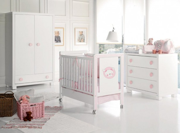 Stunning White Theme Baby bedroom Furniture Concept: Pure Stunning White Theme Baby Bedroom Furniture Design Ideas Nursery Interior Mobile Crib Cute Baby Furniture Vintage Wardrobe ~ stevenwardhair.com Bed Ideas Inspiration