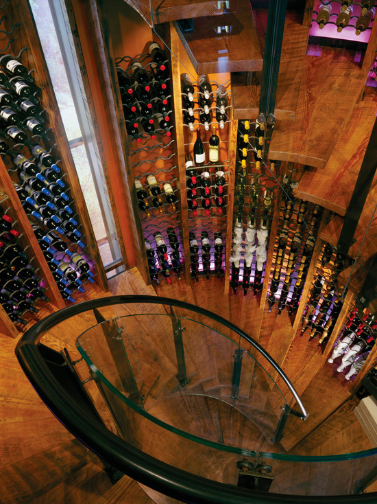 Awesome Wine Cellar Spiral Staircase: Queens Lane Wine Silo Eclectic Wine Cellar Spiral Staircase That Accesses Carefully Displayed Wine Bottles Organized Around The Silos Perimeter Surrounded By Cases Of Wine