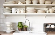 Rustic Elegant Kitchen Appliances Made From Stainless Steel : Rattan Pot Plants Ivory Tainless Steel Modern And Minimalist Kitchen Appliances Design Ideas Nd Tiny Green Plant Decoration