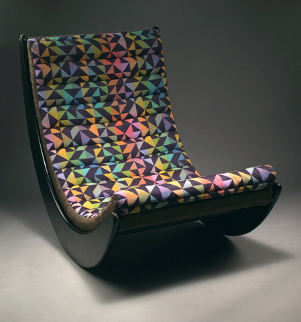 Modern Rocking Chair Design Ideas: Relaxer Rocking Chair Designed By Verner Panton 1