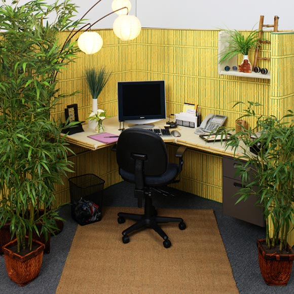 Inspiring Office Cubicle Decoration Full In Town: Relaxing Office Cubicle Decoration With Real Green Plants