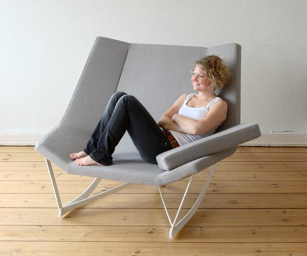Modern Rocking Chair Design Ideas: Rocking Chair For 2 Designed By Markus Krauss