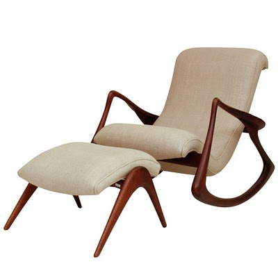 Modern Rocking Chair Design Ideas: Rocking Chair With Footstool Design