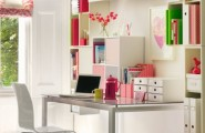 Marvellous Smart Space For Home Office Design : Romantic Bright Modern Thoughtful Home Office Storage Solution Ideas With Built In Shelving And Cabinetry For More Storage With Desk And Chair
