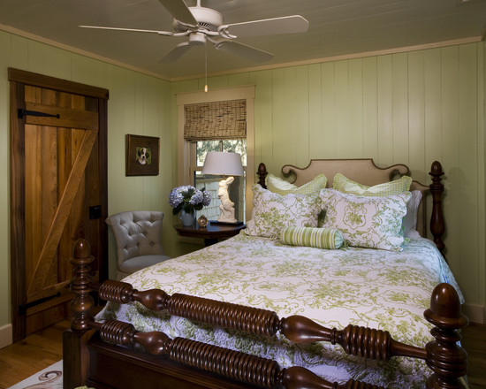 Awesome Jenny Lind Twin Beds : Rustic Bedroom Jenny Lind Bed And Warm Wood Wall Color And Green And White Bedding