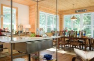 Wonderful Knotty Pine Wood Flooring : Rustic Kitchen With Amazing Grade Of Pine Was Used Around The Windows Clear Raw Pine