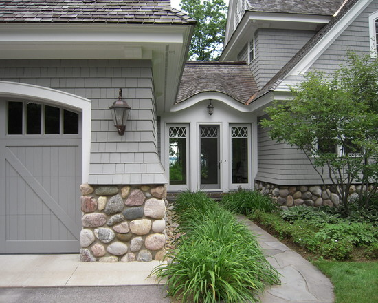 Beautiful Rock Siding for Houses: Shake And Shingle Rock Siding For Houses At Traditional Exterior