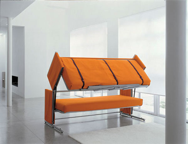 The Most Extreme Modern Beds : Shelter Bunksofabed 2 Is Most Extreme Modern Bed Which Transforms The Sofa Into A Bunk Bed