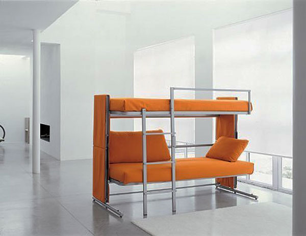 The Most Extreme Modern Beds : Shelter Bunksofabed 3 Is Most Extreme Modern Bed Which Transforms The Sofa Into A Bunk Bed
