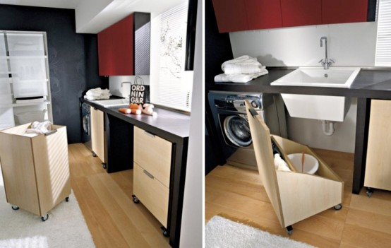 Modern Laundry Room Design and Furniture: Simple Modern Laundry Room Furniture And Design Custom Pantries With Parquet3 ~ stevenwardhair.com Bookshelves Inspiration