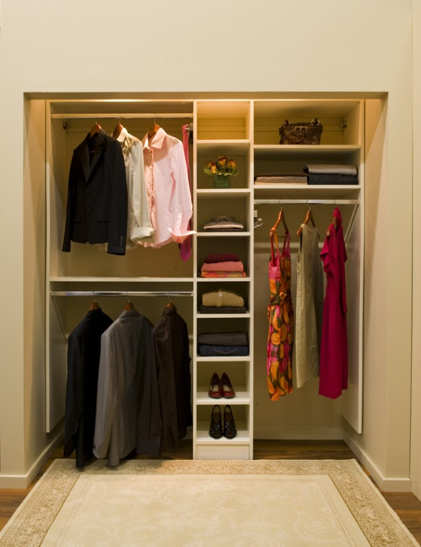 Perfect Closet Ideas To Storage Your Stuff Perfectly: Simple Perfect Closet Ideas To Storage Your Stuff Modern Minimalist Closet Ideas White Color Design Wonderful Rug ~ stevenwardhair.com Closets Inspiration