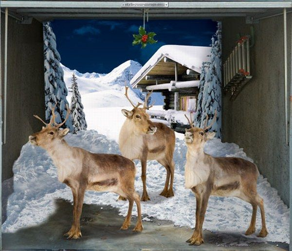 Great Ideas: Garages Door Posters: Single Garage Door Poster Deers