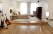 Unique Outstanding Studio Apartment Design By Adding Immoderate Furniture : Small Bedroom Design For Studio Apartment Decorating Ideas With Astonishing Laminated Wooden Floor Design
