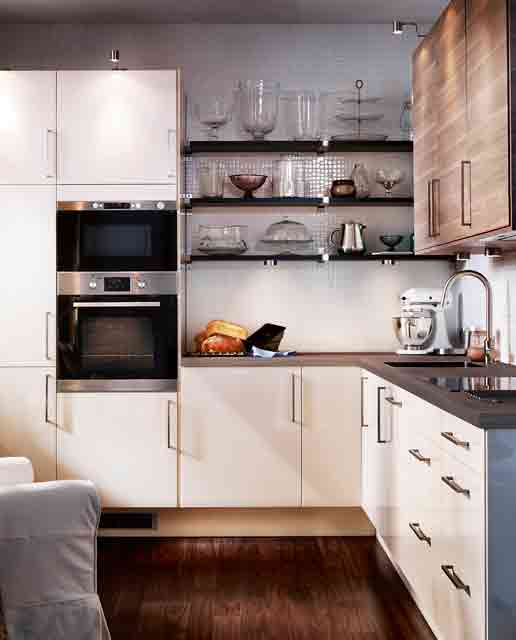 Modern Kitchen Designs for Small Spaces: Small Kitchen In A Variety Of Materials1